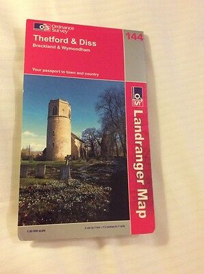 Ordnance Survey Map 144 Thetford And Diss
