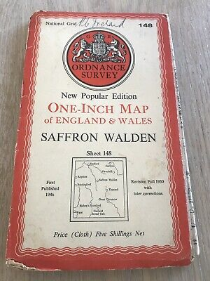 Vintage Ordnance Survey Map Sheet 148 Saffron Walden