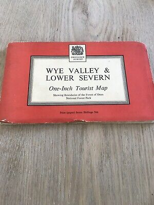 Vintage Ordnance Survey One Inch Tourist Map Sheet Wye Valley & Lower Severn