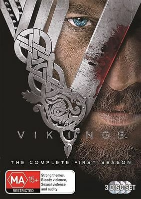 Vikings: Complete Season 1 (DVD, 3-disc set) very good condition region 4  t22