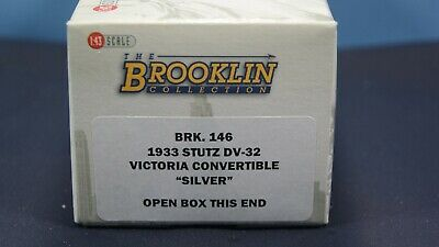 BROOKLIN MODELS - 1933 STUTZ VICTORIA CONVERTIBLE SILVER  - 1.43 Made in England