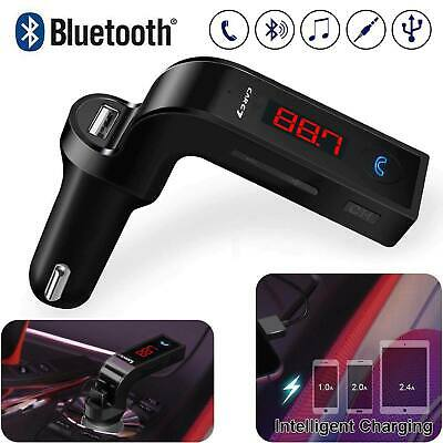 Carg Wireless Bluetooth FM Transmitter AUX USB CAR Charger Kit Handsfree Adapter