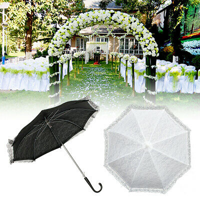 Girl Lady Handmade Vintage Lace Parasol Sun Umbrella Wedding Bridal Party Decor