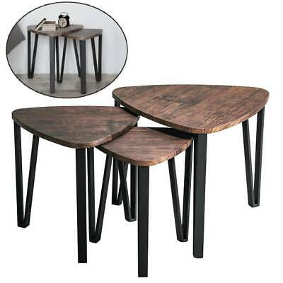 Scandinavian/Retro Nest of 3 Side/Lamp/Coffee Tables Furniture Nested Tables UK