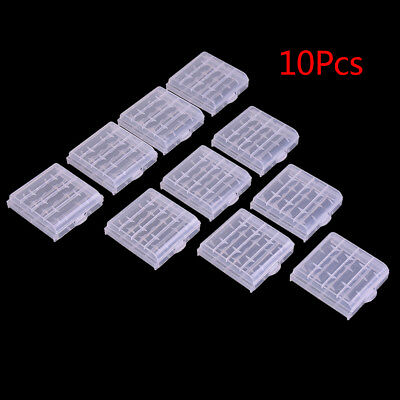 10x Plastic Case Holder Storage Box Cover for Rechargeable AA AAA Batteries XM