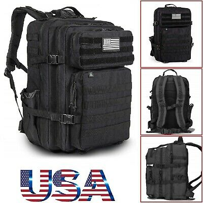 Tactical Backpack Travel Rucksack Assault Pack Molle Bug Out Bag Military Gear