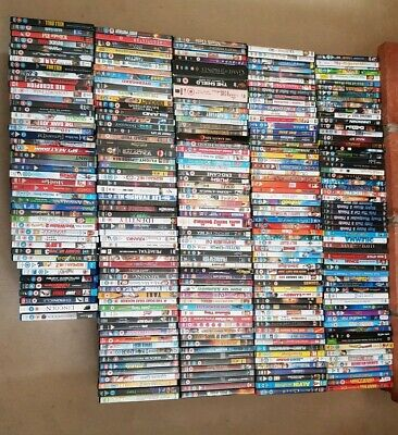 Joblot 274 DVDs + 8 Blue Ray Bundle Mixed Titles, mixed conditions