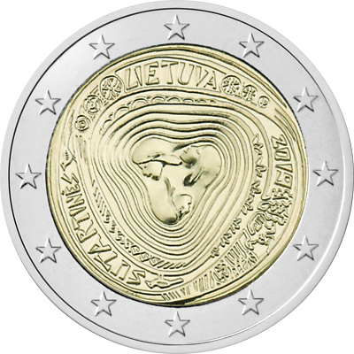 """Lithuania 2019 UNC 2 Euro Commemorative coin """"Lithuanian multipart songs"""""""