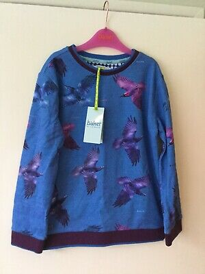 Bnwt Baker By Ted Baker Boys Bird Of Prey Younge Top Size Aged 8/9 Years