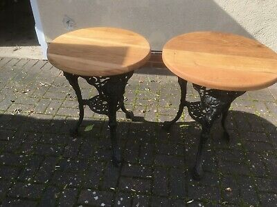 Victorian cast iron pub table. garden table lovely condition.