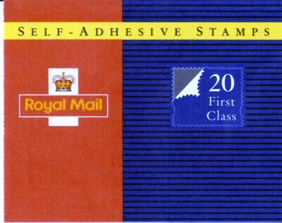 Royal Mail Book of 20 First Class Self Adhesive Definitive stamps - 19.10.93