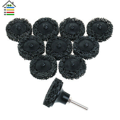 10pc 2inch Black Roloc Easy Strip Discs Clean Coarse Strip Pad Remove Paint Rust