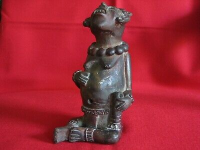 Antique Pre Colombian Clay Pottery Figure Mayan
