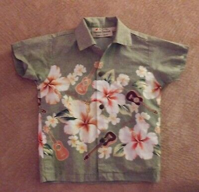 Royal Hawiian Creations Boys Hawiian Shirt Sz 2 New Without Tags