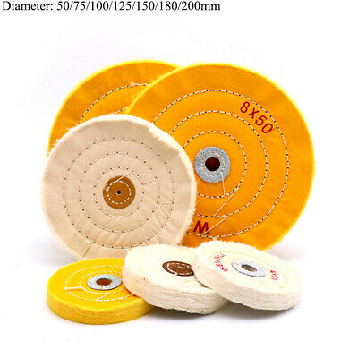 2'' - 7'' Cotton Buffing Polishing Wheel Pad 50mm-200mm for Angle Bench Grinder