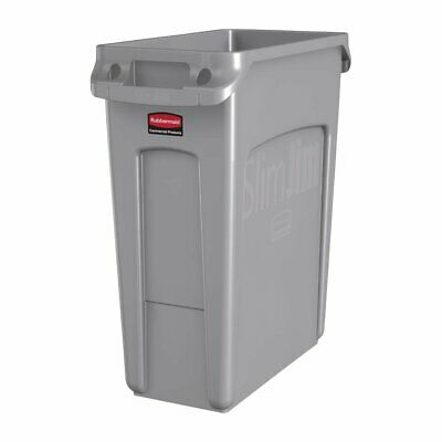 Rubbermaid Slim Jim Waste Container Grey - 60Ltr
