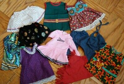 """Lot of Handmade Doll Clothes fit 18"""" American Girl Our Generation same size Doll"""
