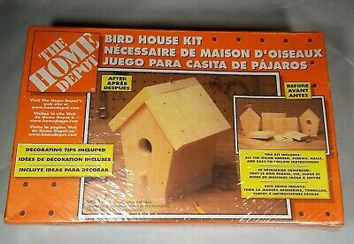 HOME DEPOT BIRDHOUSE KIT SEALED PACKAGE w/ WOOD SCREWS NAILS INSTRUCTIONS 1999