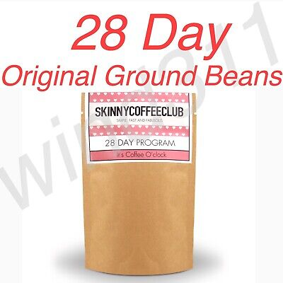 Skinny Coffee Club 28 DAY - Original Ground Edition/Weight Loss Diet Detox Drink