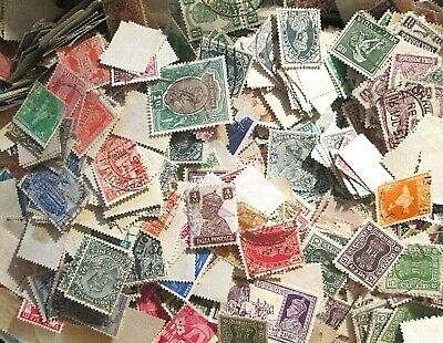 1000 unsorted INDIA Stamps off paper Kiloware From  Old Collections