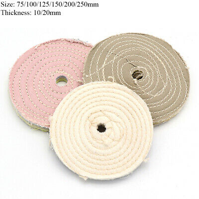 75-250mm Stitch Cotton Cloth Buffing Polishing Wheel Disc Pads for Bench Grinder