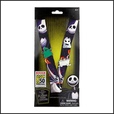 SDCC 2019 Monogram Nightmare Before Christmas Lanyard and Pin Set LE IN HAND