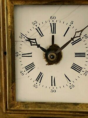 19th century French Carriage Alarm Clock. Signed  C. MAUREL  Paris.