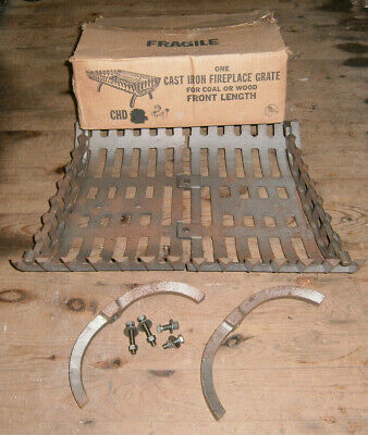 """Atlanta Stove Works Heavy Duty Cast Iron Fireplace Grate 24"""" Wood or Coal NOS"""