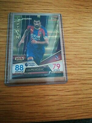 010/050 Match attax Ultimate 2018/19 MILIVOJEVIC Captain Purple Parallel Card