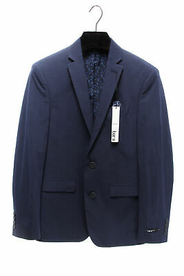 BAR III $275 NEW Mens 3288 Slim-Fit Stripe Seersucker Jacket Blazer 38L