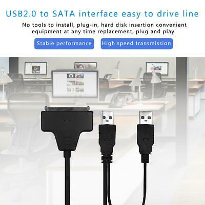 USB to SATA 2.0 2.5/3.5 inches HDD SSD Hard Drive Converter Cable Line Adapter