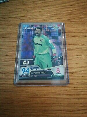 010/050 Match attax Ultimate 2018/19 FABIANSKI - West Ham Purple Parallel Card