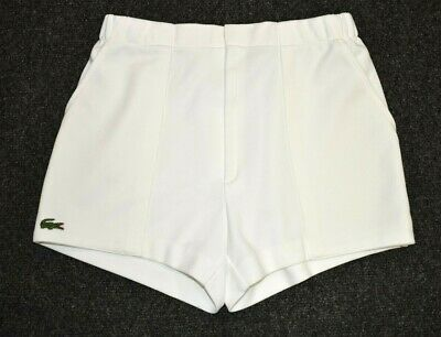 CHEMISE LACOSTE TENNIS SHORTS OLDSCHOOL VINTAGE THE BUSINESS CASUAL 90s 80s XS