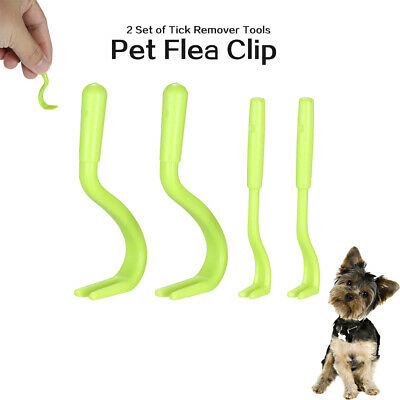 2 Set of Small and Large Tick Remover Tools Pet Flea Clip C6O1