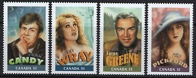 Canada MNH Sc# 2153a-2153d Singles Canadians in Hollywood