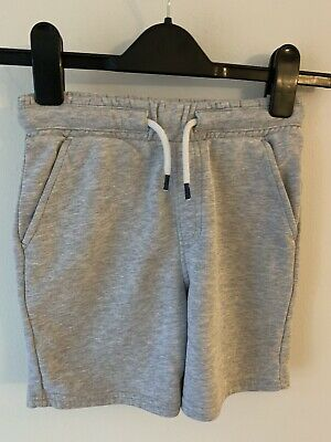 Boys Marks And Spencer Age 6-7 Years Grey Jogging Shorts Elasticated Waist M&S