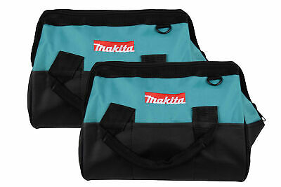 """Makita 14""""Tool bag with reinforced handles, interior and exterior pockets 2 Pack"""