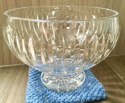"""Waterford Crystal Footed Pedestal Bowl Marquis Sheridan 5.75"""" tall x 7"""" across"""