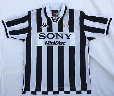 info for 317f5 ff7e4 JUVENTUS ITALY SONY Minidisc Kappa 1996-1997 Home Soccer Jersey XL (Fits S  or M)