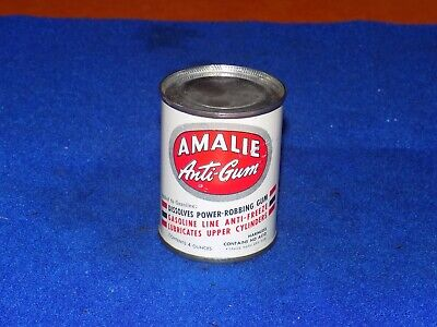 Vintage, AMALIE, ANTI-GUM, 4oz metal can, oil can, (nos) and full