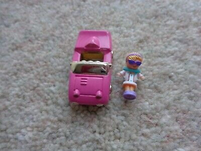 Vintage polly pocket Racy roadster Ring girl and car  1994 by blueburd