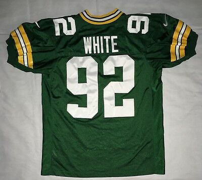 df48f281 VINTAGE REGGIE WHITE Green Bay Packers Nike NFL Green Jersey Mens XL ...