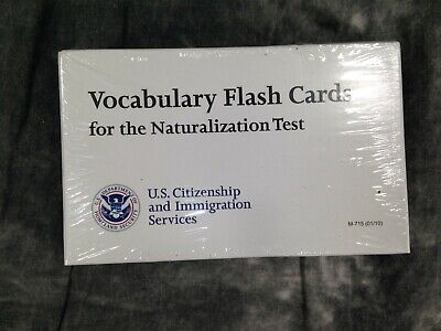 Vocabulary Flash Cards for the Naturalization Test