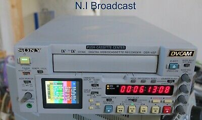 Sony dsr45p pal dvcam recorder with firewire option (71x10 drum hours)