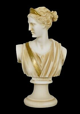 Artemis Goddess of Hunt Small Aged Bust - Diana the Protector of Girls