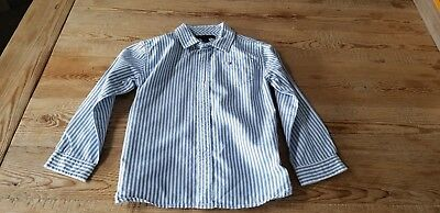 Tommy Hilfiger toddler boy 4T blue striped oxford long sleeve button shirt