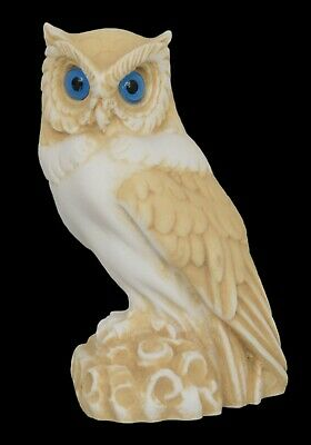 Owl of Athens small aged sculpture - Symbol of wisdom - Goddess Athena