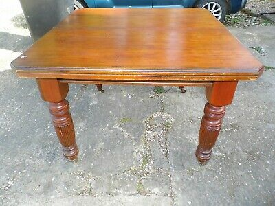 Victorian Mahogany Table - Carved Legs  - Castors