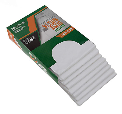 6-Pack Biodegradable Reusable Dust Sheets: 2.7m x 3.6m 9'x 12' x 0.7mil Embossed