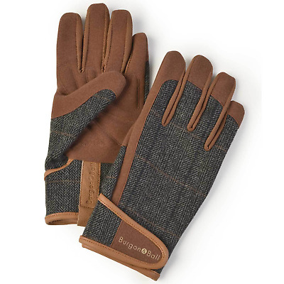 Burgon and Ball Gardening Gloves Men's - Dig The Glove Tweed Size L/XL